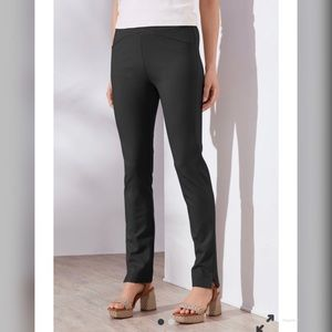 NWT Soft Surroundings Black Relaxed Knit Pants LG